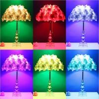 创意个性北欧卧室婚庆礼物K9水晶床头台灯玫瑰花台灯卧室床头灯