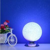 创意卧室台灯发光球灯书桌夜灯圆球月球灯床头灯台灯