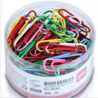 得力0038迷你彩色回形针 金属分类创意曲别针 160枚/盒