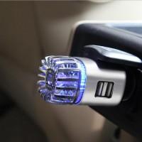 多功能电器车载负离子空气净化器带USB充电口双车充