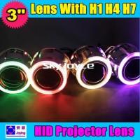 3寸H4双光透镜 聚光灯 天使眼汽车透镜 HID双氙无损改装