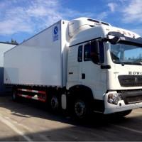 340马力重汽豪沃9.6米冷藏车价格,冷链运输车