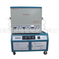 CVD多温区管式电炉,三温区CVD管式炉,双控温高温管式炉