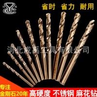 高速钢钻头角铁不锈钢铁板铝开孔器4341全磨直柄麻花钻头