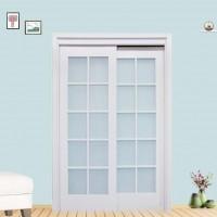 平推移门木门白色现代简约室内门卧室门房间套装门隔音移门