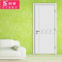 柯灵平板门横线实木复合烤漆门室内隔音卧室房间厨房