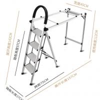 多功能梯子家用折叠晾衣架两用梯子人字梯加厚铝合金四步楼梯