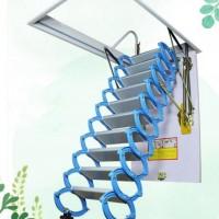 家用加厚隐形伸缩梯整体折叠别墅复式楼梯折叠梯阁楼楼梯室内楼梯