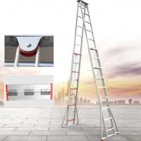 安踏厂家双面伸缩式梯子人字升降梯工程梯铝合金梯 升降梯 鋁梯