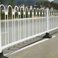 U形圆钢隔离栏 城市交通道路京式护栏 马路防撞道路护栏