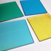 室外建筑彩色钢化玻璃批发 厂家直销6mm彩钢玻璃