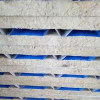 50mm瓦楞板彩钢板 复合彩钢夹心岩棉板 厂家直销