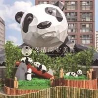成都商场美陈 美陈dp点 熊猫雕塑 景观小品 商场装置