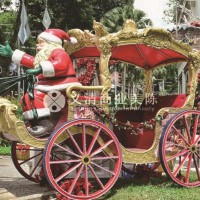 圣诞马车装置 圣诞美陈 圣诞树装置 装置艺术 雕塑定制