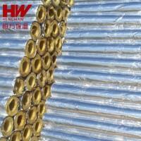 岩棉保温隔热管 覆铝箔玻璃棉管 阻燃隔热防火保温管壳厂家直销