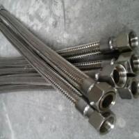 不锈钢金属软管耐高温高压蒸汽钢丝编织网波纹管4分6分1寸