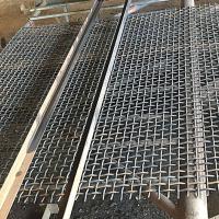 国标65mn锰钢筛网 铁矿石振动筛 碳钢编织矿筛网安平钢丝网
