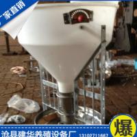养猪设备 优质不锈钢底盘猪用双面料槽 干湿料槽