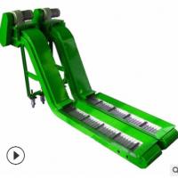 宝阳制造数控机床导轨刮板排屑机链板式废料输送螺旋式磁性排屑机