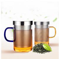 玻璃杯耐热玻璃水杯带盖茶杯过滤直觉三件杯子