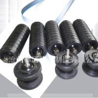输送机橡胶托辊平行下托辊槽型橡胶圈缓冲托辊可加工定制